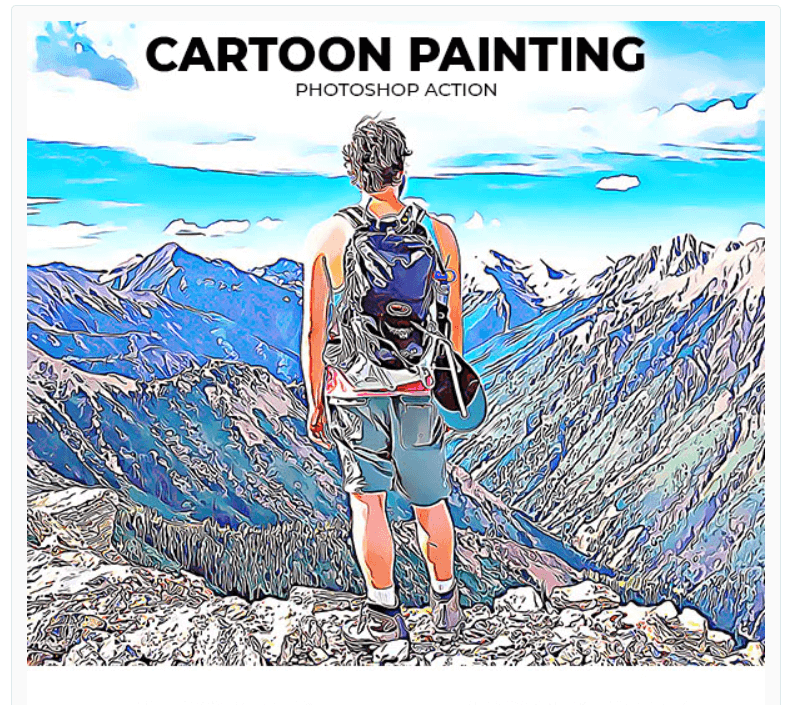 Cartoon Painting Photoshop Action2