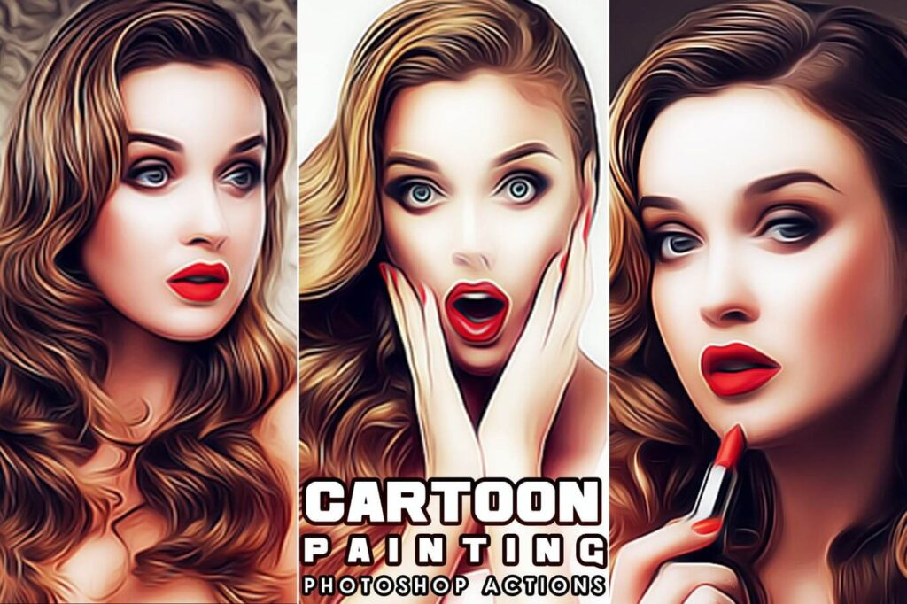Cartoon Painting Photoshop Actions1