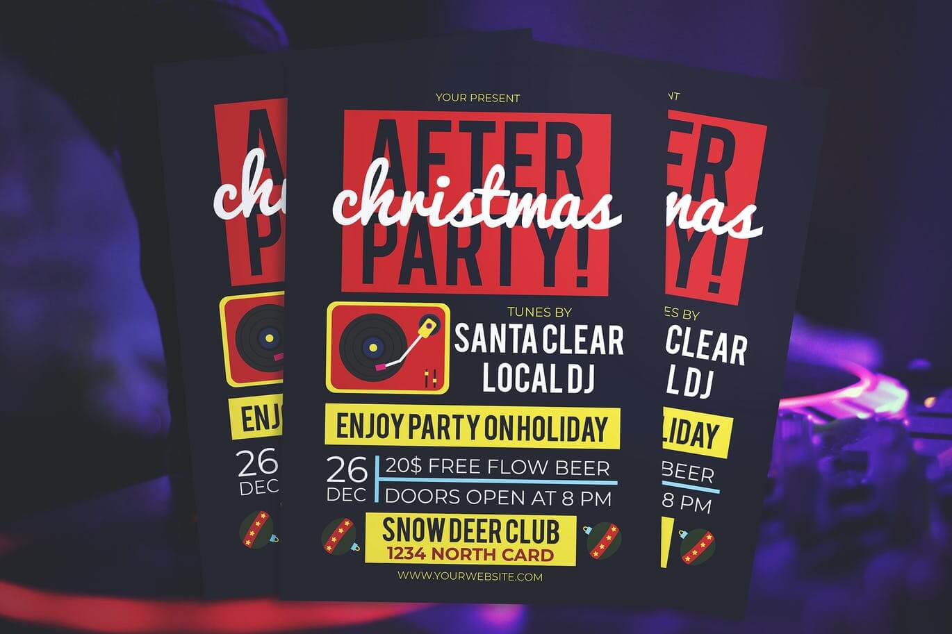 Christmas After Party Flyer