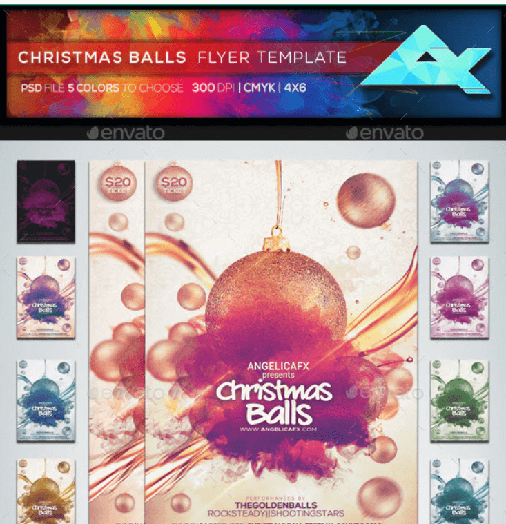 Christmas Balls Flyer Template