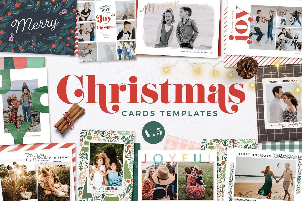 Christmas Card Templates v.5
