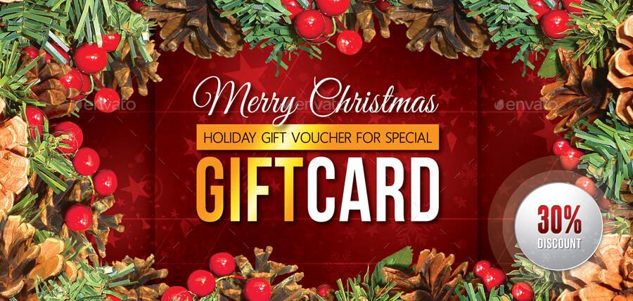 Christmas Holidays Gift Voucher V02 (2)
