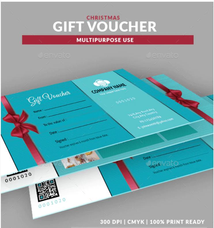Christmas Multipurpose Gift Voucher Template