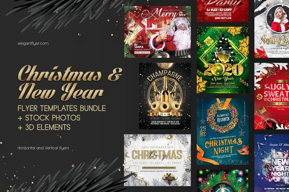 Christmas & New Year Flyer Templates