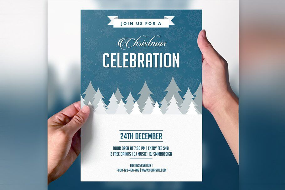 Christmas Party Invitation Flyer (1)