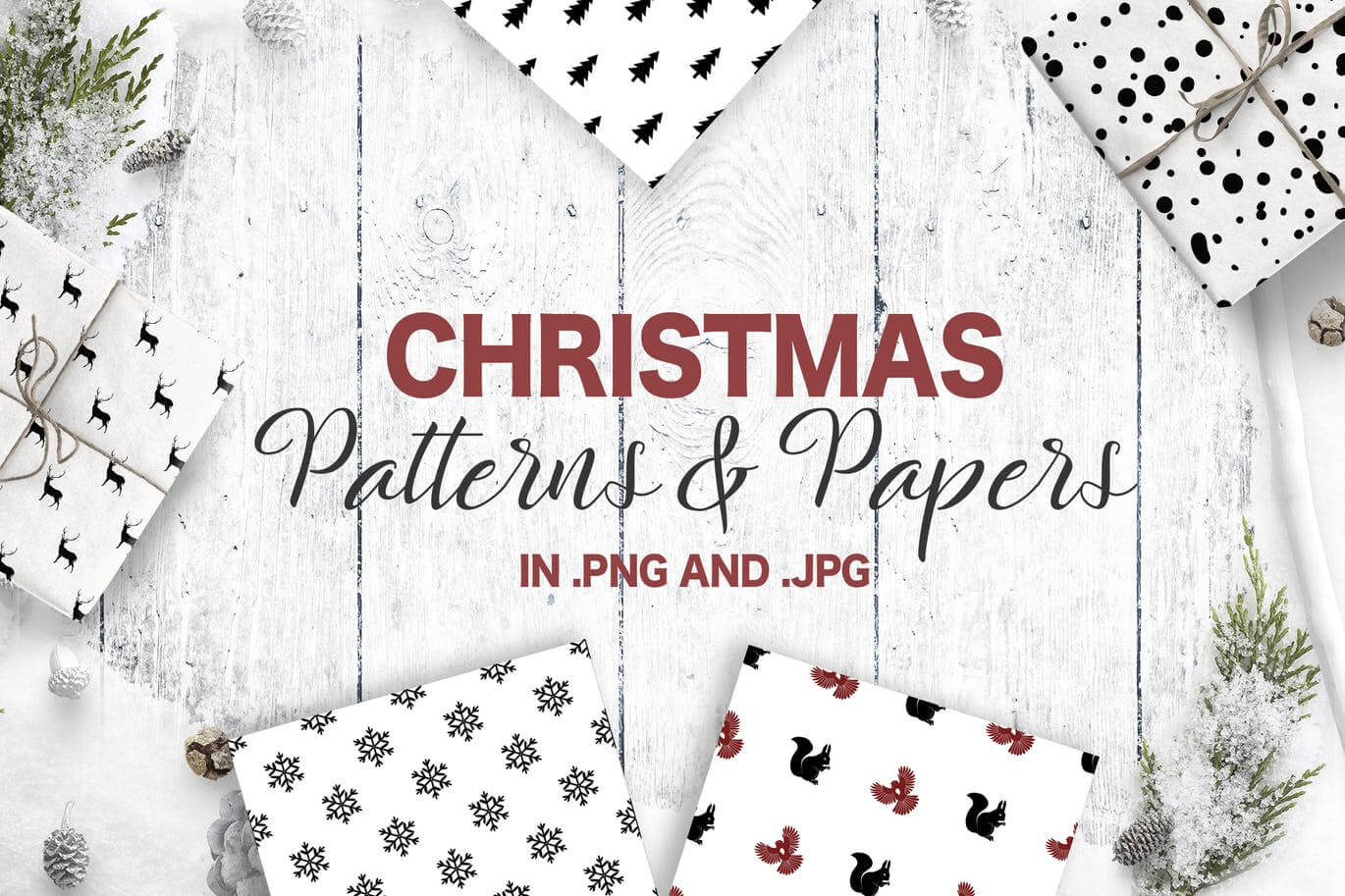 Christmas Patterns Collection. Seamless patterns