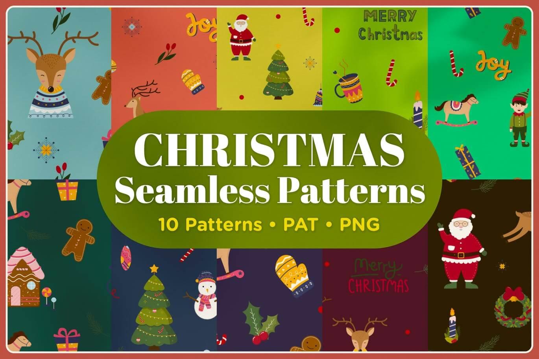 Christmas Seamless Patterns (1)