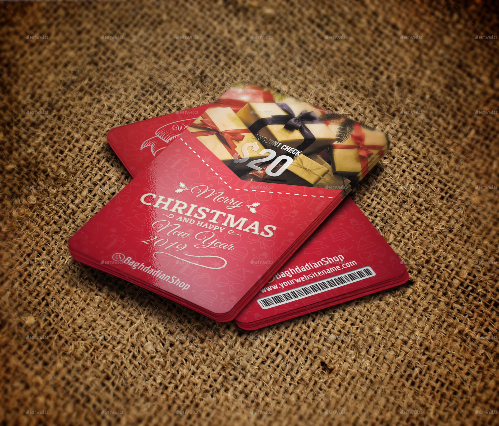 Christmas and New Year Gift Voucher Card Template (1)