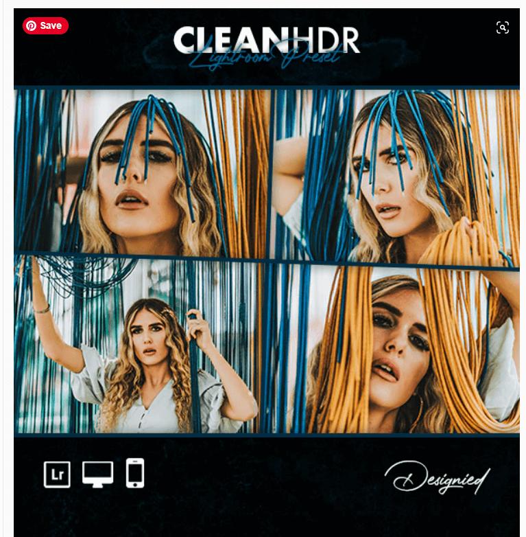 Clean HDR Lightroom Preset