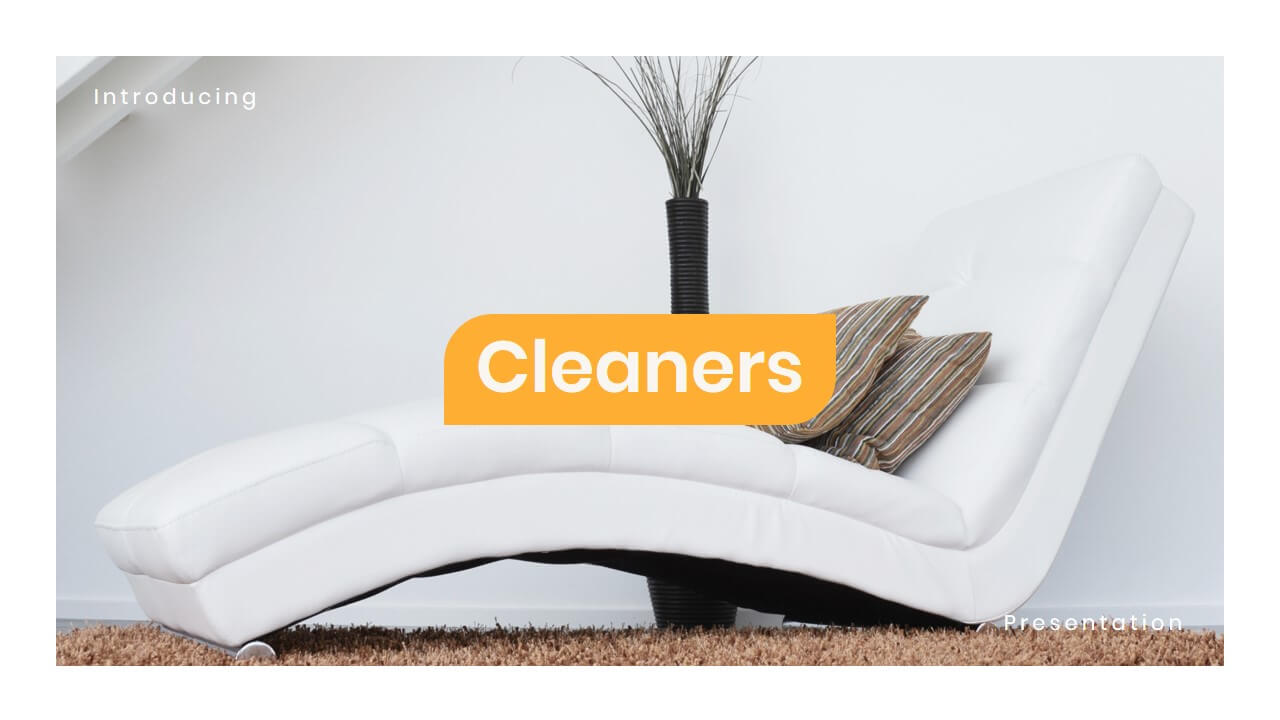 Cleaners furniture powerpoint