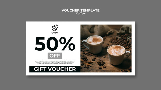 Coffee gift voucher template Free Psd (2)