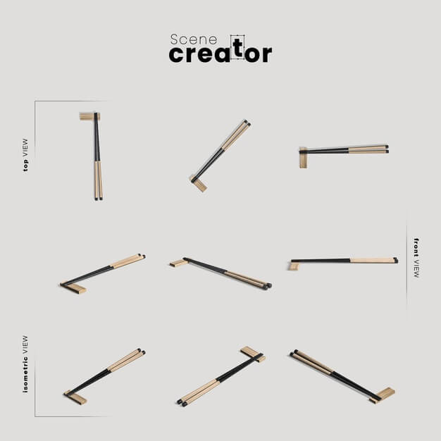 Collection of chinese eating chopsticks Free Psd
