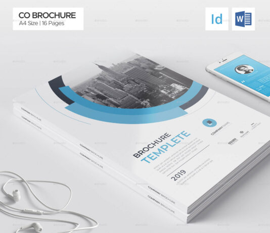 Company Brochure, Word Template, 16 Pages