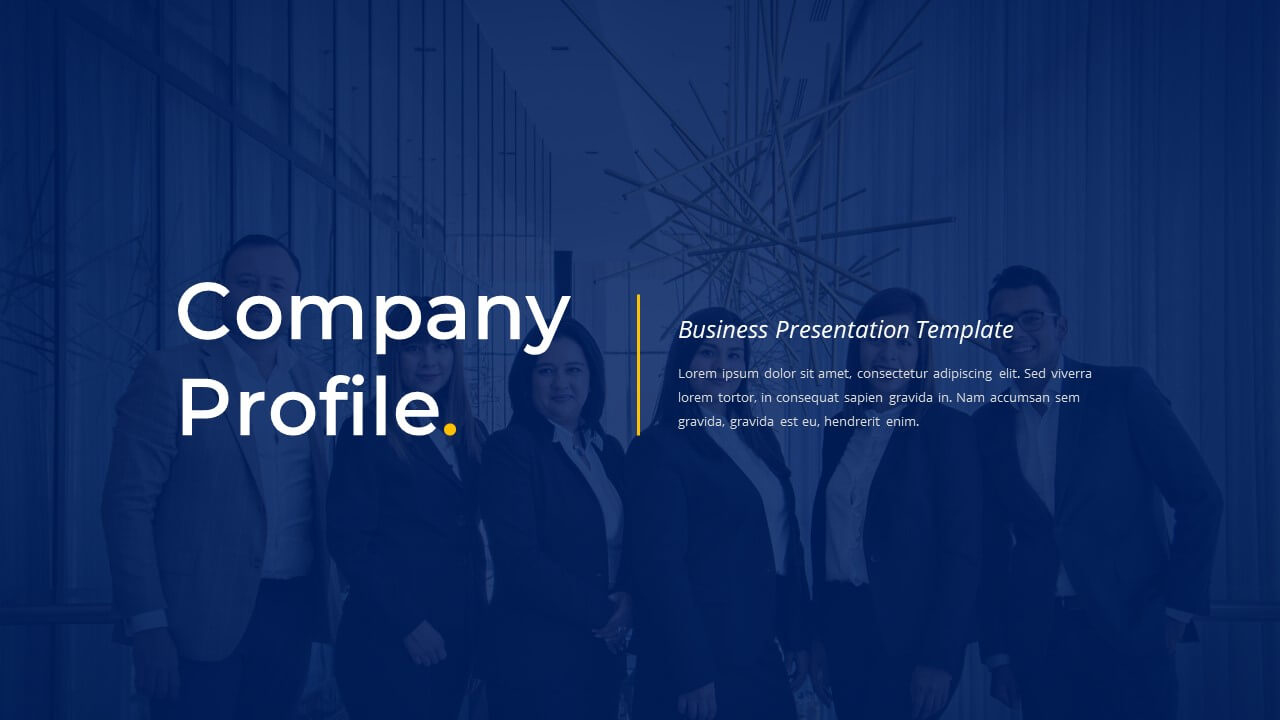 Company Profile - Business PowerPoint Template