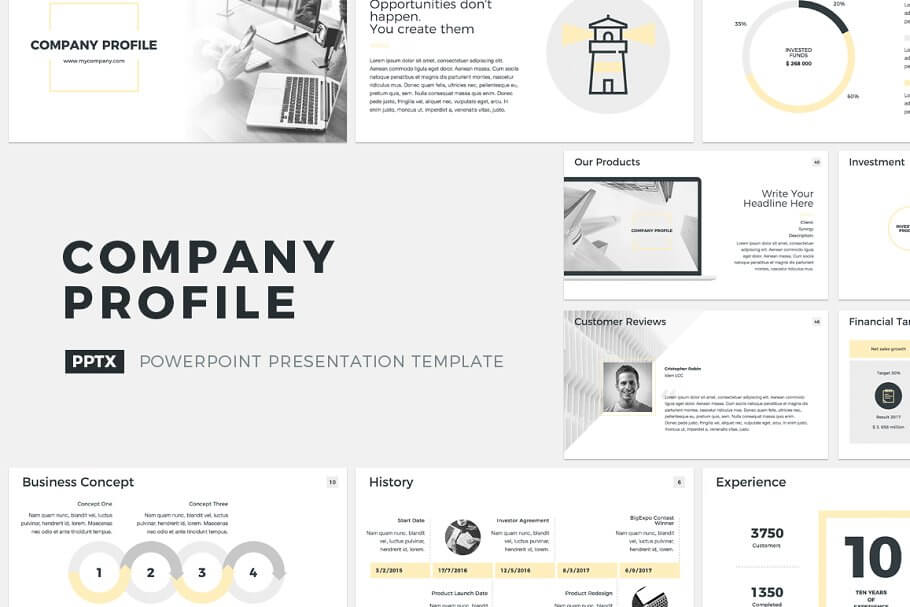 Company Profile PowerPoint Template (5)