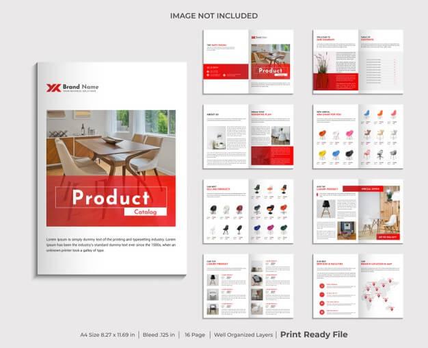 Company product catalogue design template Premium Vector1