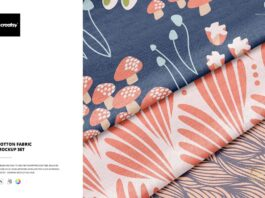 Cotton Fabric Mockup Set