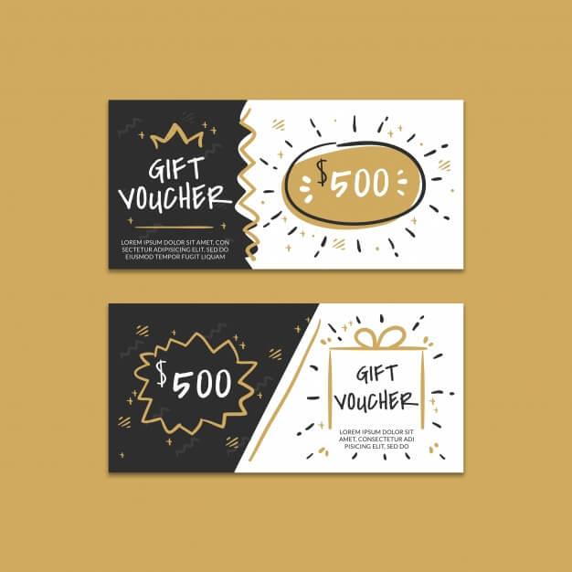 Creative gift voucher mockup Premium Psd