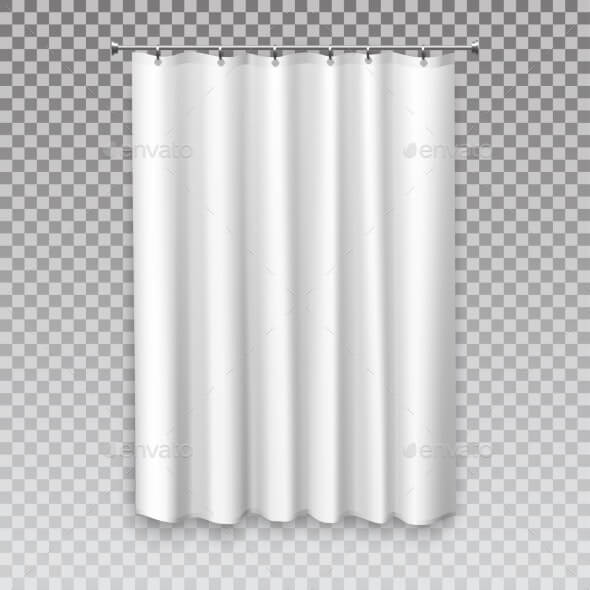 Curtain Blinds, White Drapes Window Shades