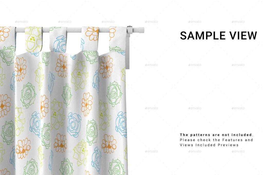 Curtain Close-up Mockup Set
