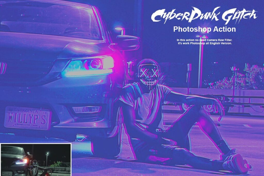 CyberPunk Glitch Photoshop Action