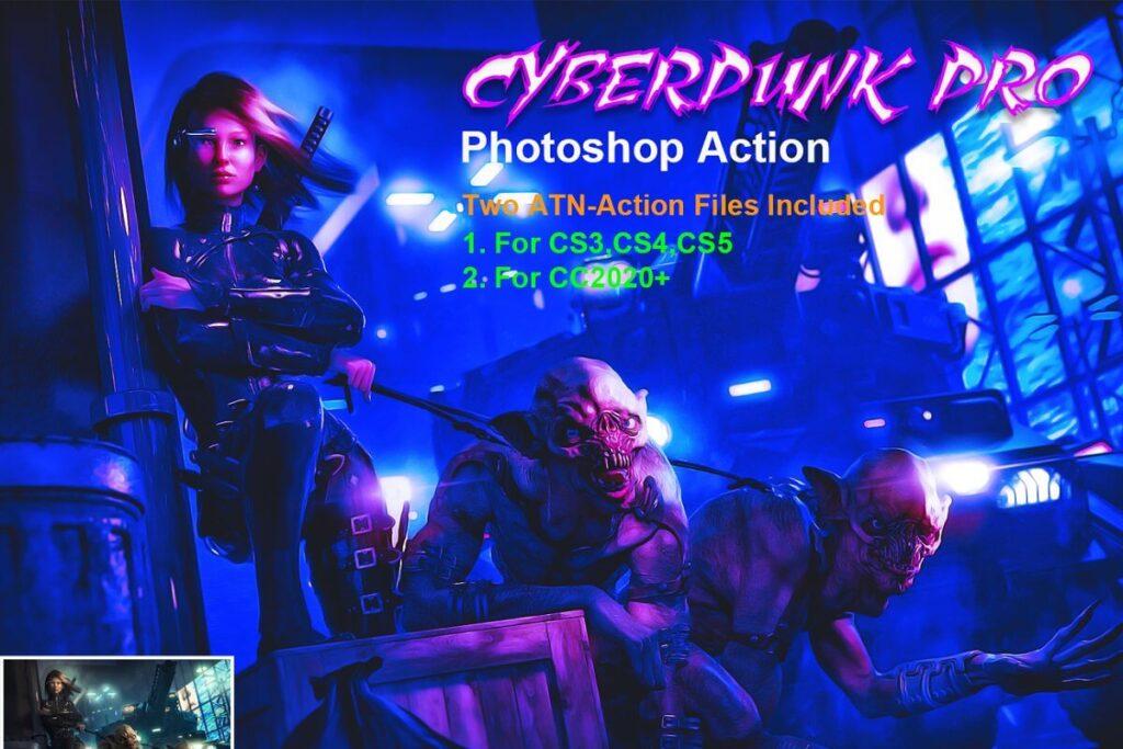 CyberPunk PRO Photoshop Action