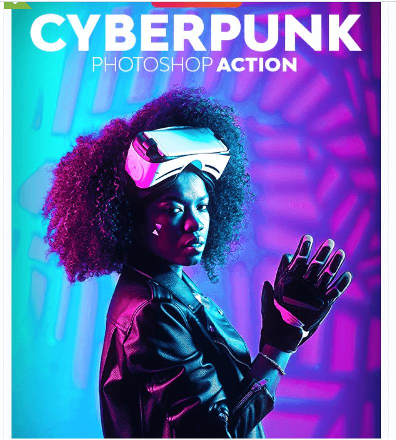 CyberPunk Photoshop Action1