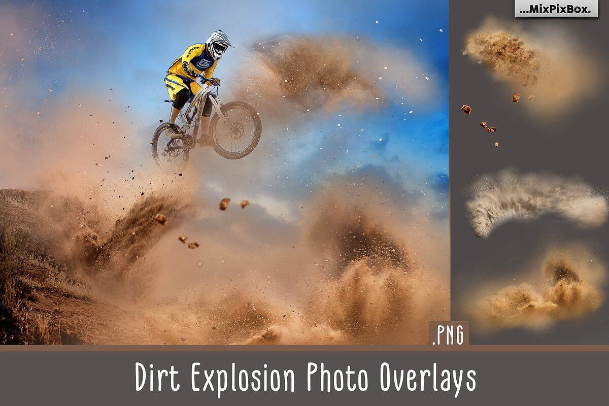 Dirt Explosion Photo Overlays