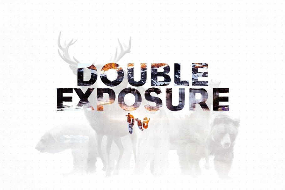 Double Exposure Photoshop Action Pro