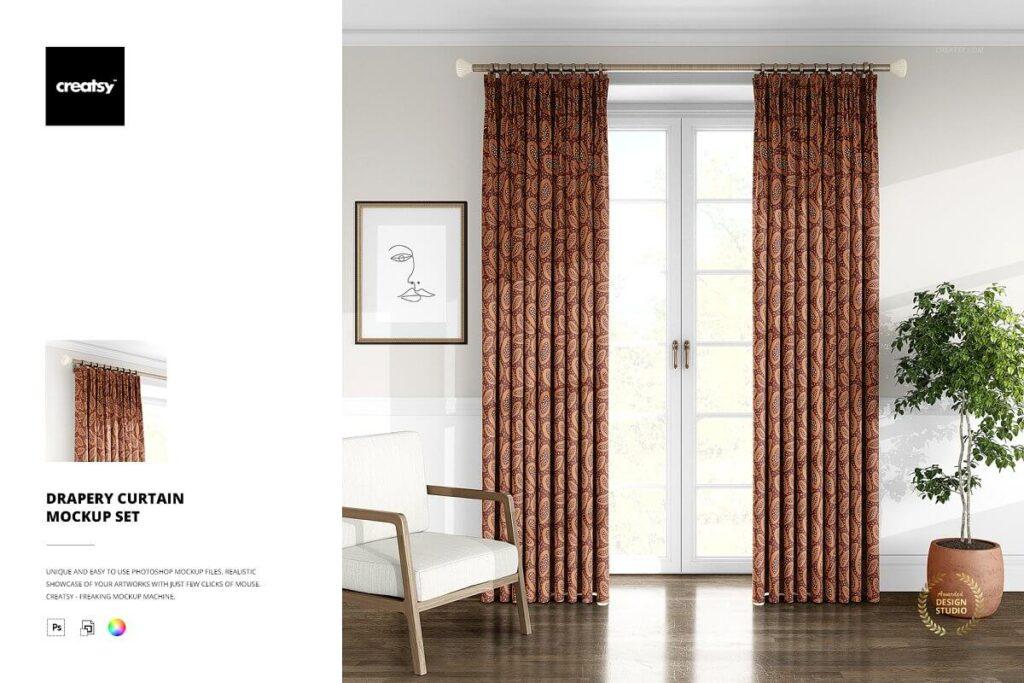Drapery Curtain Mockup Set