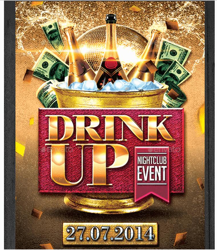 Drink Up Flyer