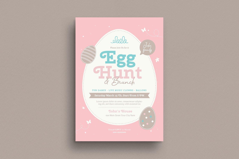 Easter Egg Hunt & Brunch Flyer
