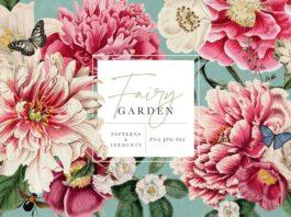 Fairy Garden Floral Patterns