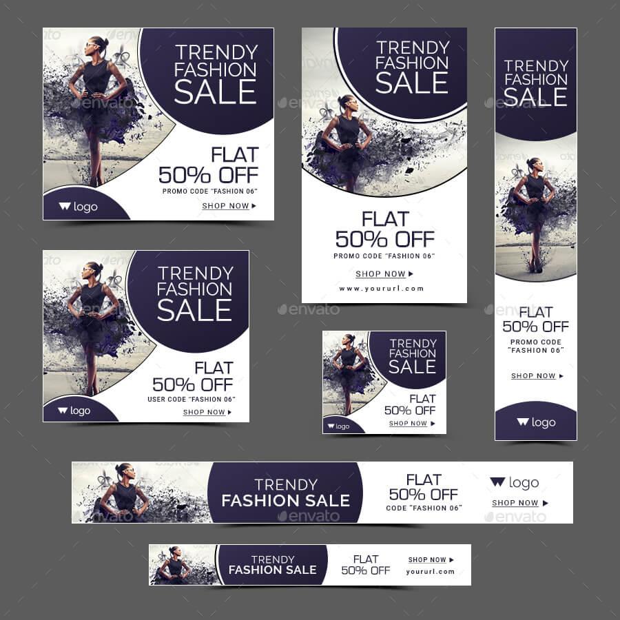 Fashion Sale Banners Bundle - 6 Sets