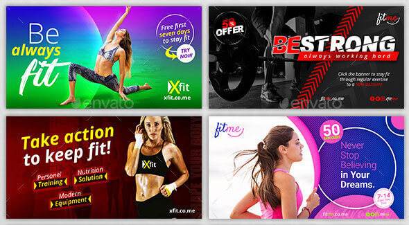 Fitness Facebook AD Banner