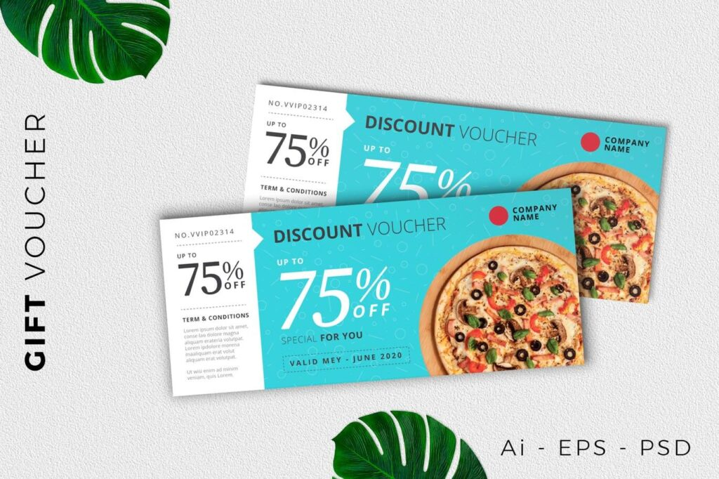 Food Gift Voucher Card Promotion