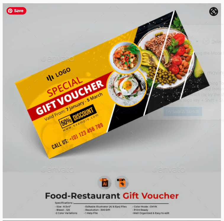 Food-Restaurant Gift Voucher Template (1)