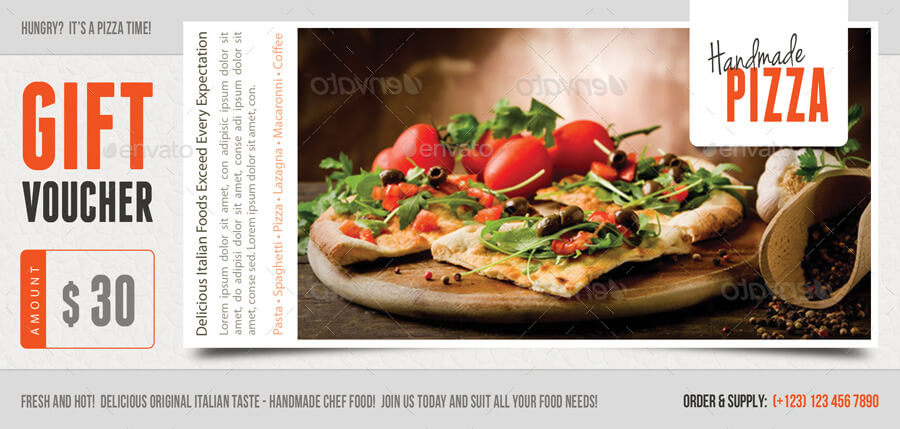 Food and Pizza Gift Voucher V01