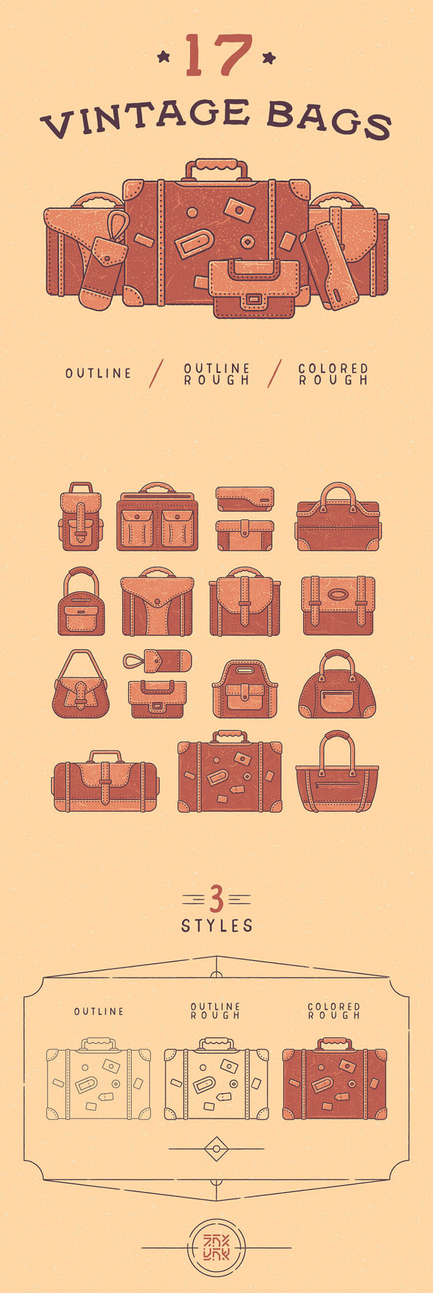 Free 17+ Vintage Bags Vector Icon Illustrations