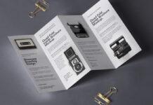Free 4 Fold Panel Brochure Mockup PSD Template