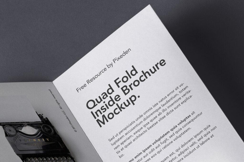 Free 4 Fold Panel Brochure Mockup PSD Template1