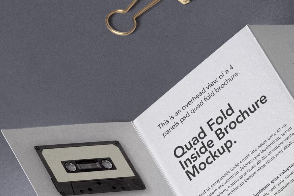 Free 4 Fold Panel Brochure Mockup PSD Template2