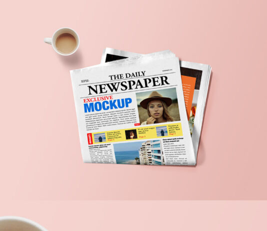 Free Articled Newspaper Mockup PSD Template