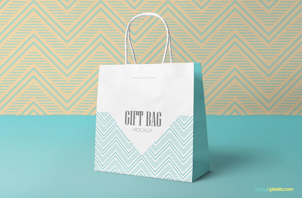 Free Attractive Gift Bag Mockup PSD Template