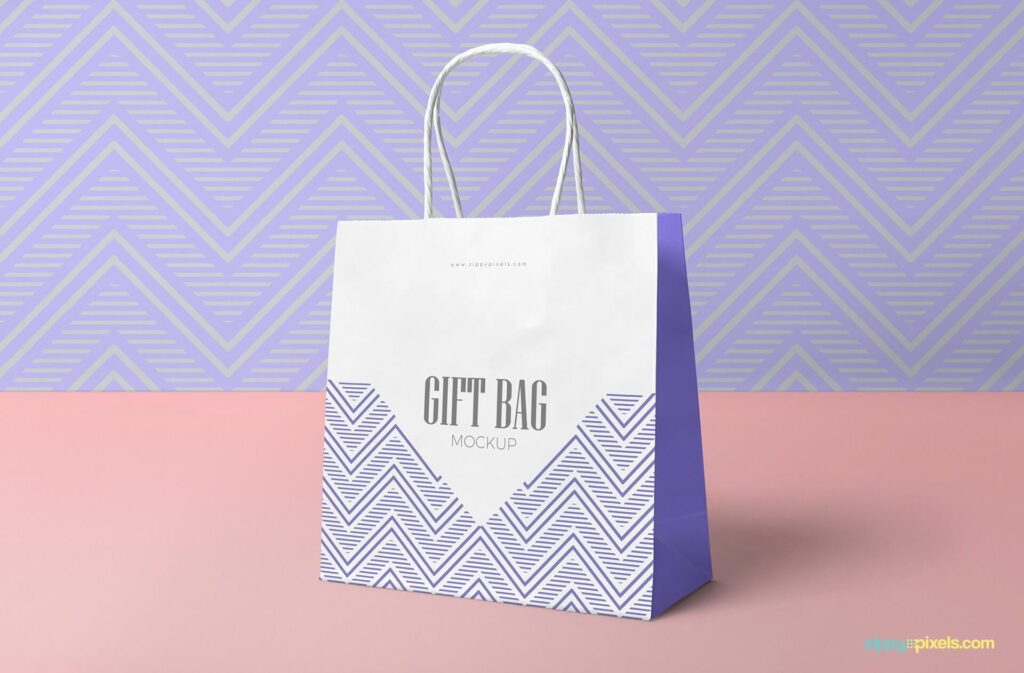 Free Attractive Gift Bag Mockup PSD Template2