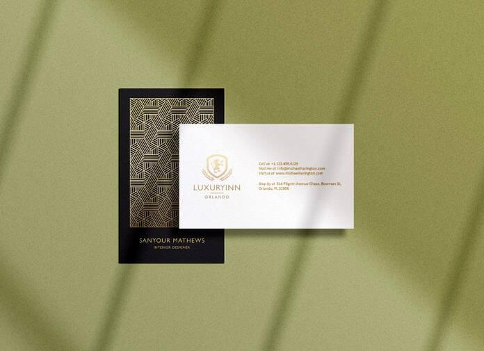 Free B&W Business Card Mockup PSD Template