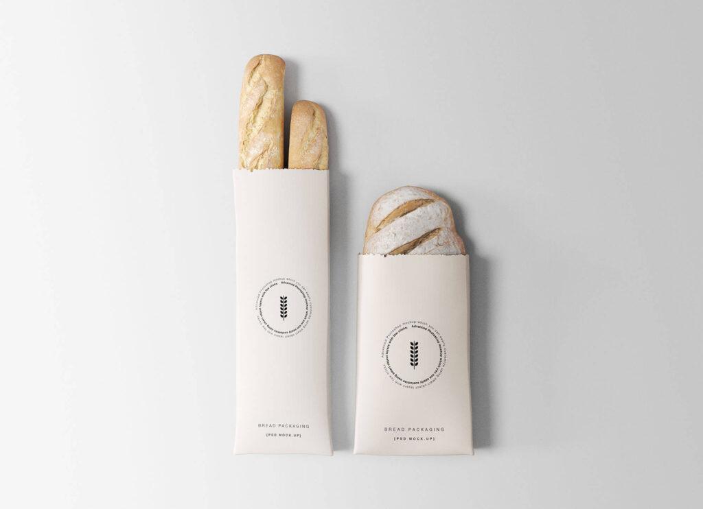 Free Bakery Branding Bread Packaging Mockup PSD Template
