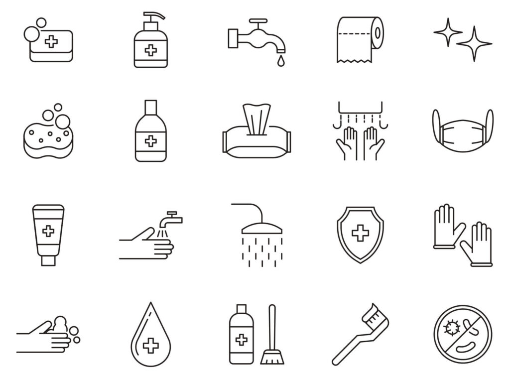 Free Basic 20+ Hygiene Vector Icons (1)