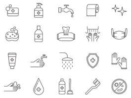 Free Basic 20+ Hygiene Vector Icons (1)