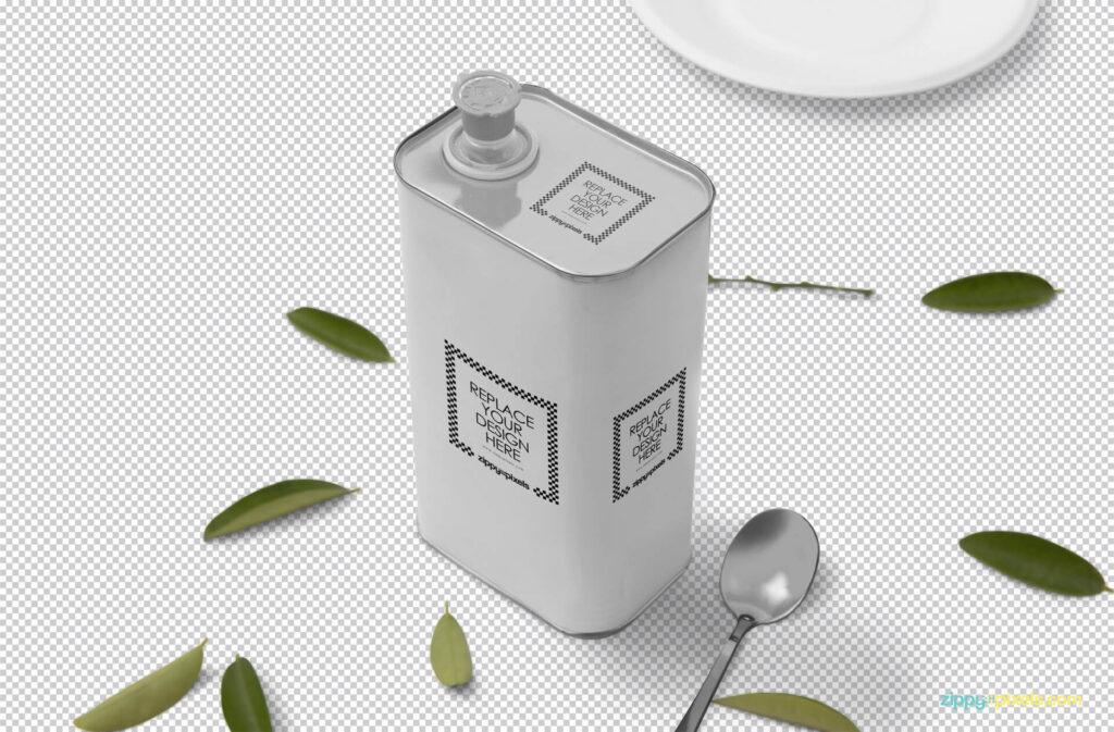 Free Beautiful Tin Can Mockup PSD Template1